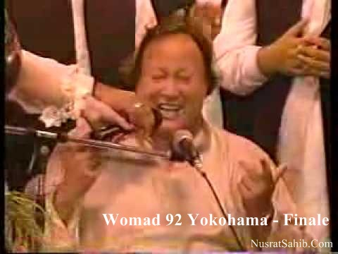 All Singers with Nusrat Fateh Ali Khan in Womad Concert [NusratSahib.Com]