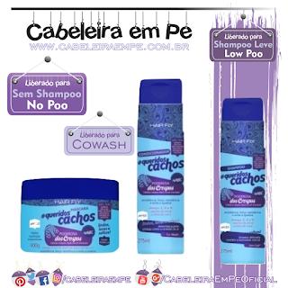 Linha Queridos Cachos Poderosa Dos Crespos - Hair Fly (Shampooo Low Poo, Condicionador e Máscara liberadas para No Poo e cowash)