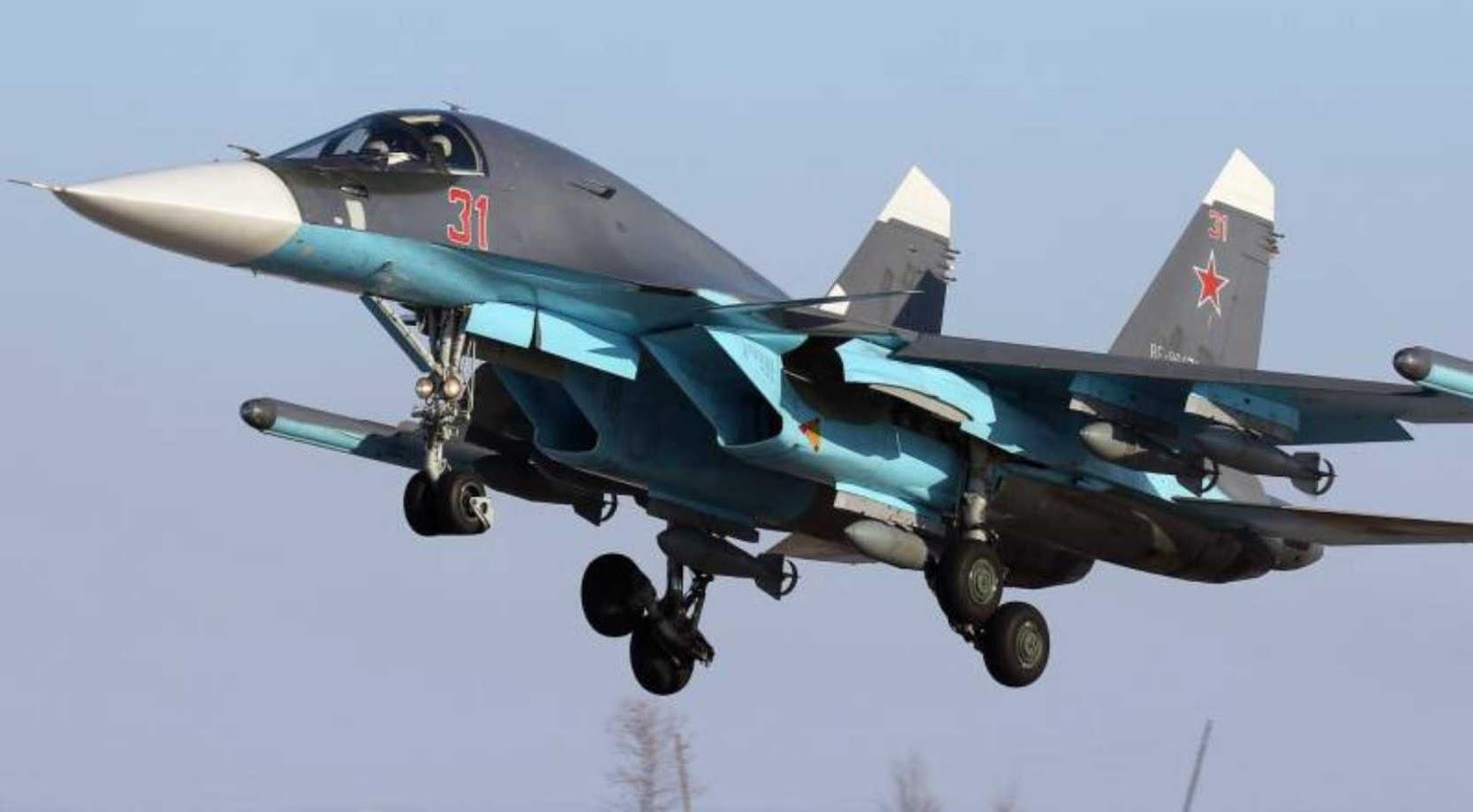Militer Rusia menerima dua pesawat pembom Su-34 baru