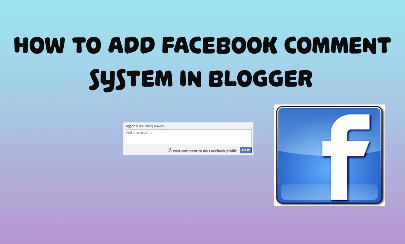 How To Add Facebook Comment Box To Blogger | KHANALSAB