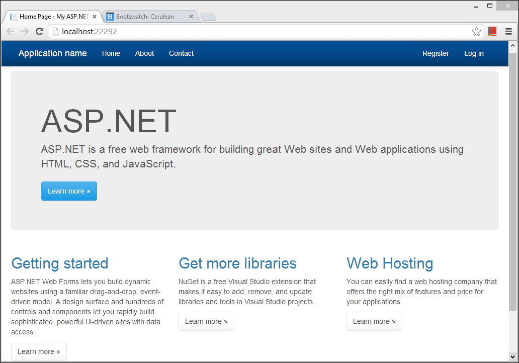 Visual Studio 2013 : Getting Started with One ASP NET