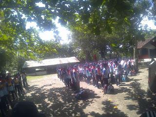 ounbond kegiatan pra kuliah PSPP Yogyakarta baris dulu