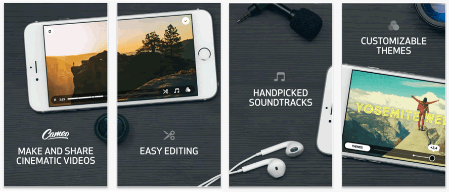 Cameo lets you create beautiful, cinematic video for social media