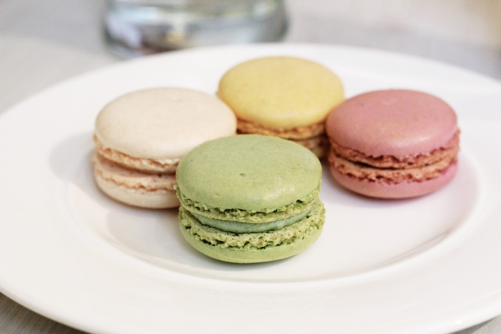 Selection of colourful pastel macarons