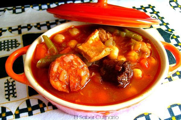 Potaje de garbanzos con callos y verduras receta r pida - Potaje de garbanzos y judias ...