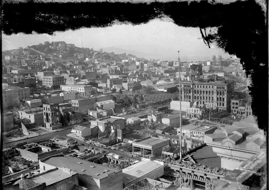 История в фотографиях.Землетрясение в Сан-Франциско 1906 года. | 735x1040
