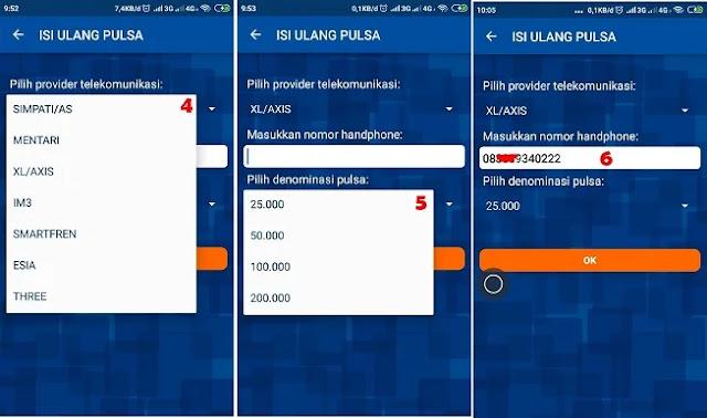 beli pulsa via Mobile BRI