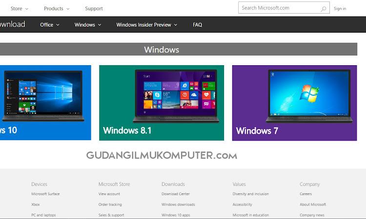 Cara Download File ISO Windows dari Halaman Resmi Microsoft