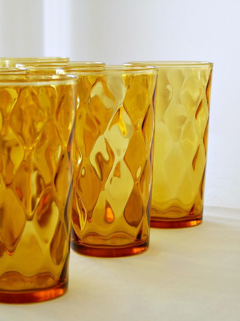 Amber glass high balls