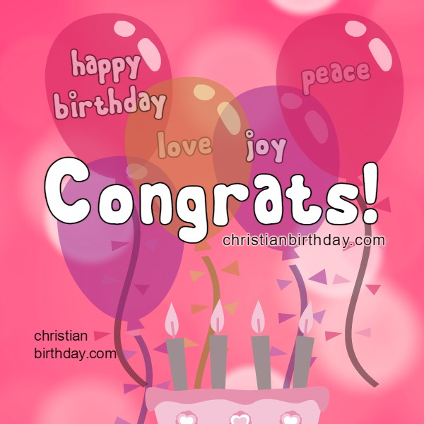 Birthday image for girl, woman, daughter. Have a fantastic Birthday. Free Christian Card by Mery Bracho.