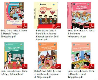 Buku Kurikulum 2013 Kelas 4 SD Tema Indahnya Keragaman Di Negeriku Revisi 2017