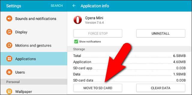 كيفية تثبيت ونقل تطبيقات الاندرويد إلى بطاقة SD