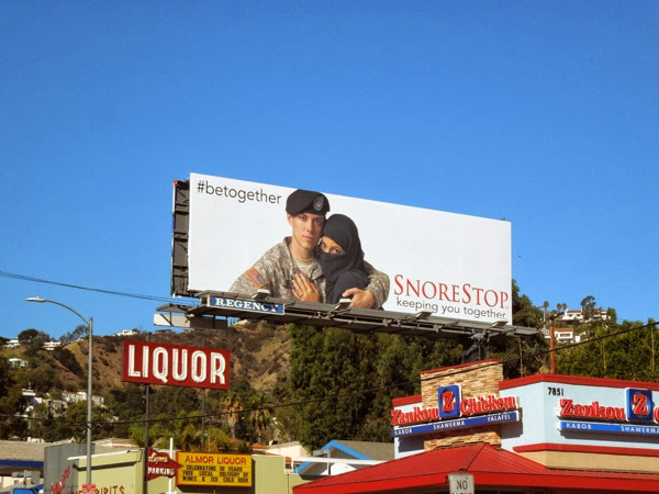 Keeping you together SnoreStop billboard