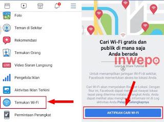 cara mudah dalam mencari WiFi dengan aplikasi Facebook.