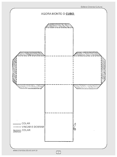 atividades matematica montar cubo
