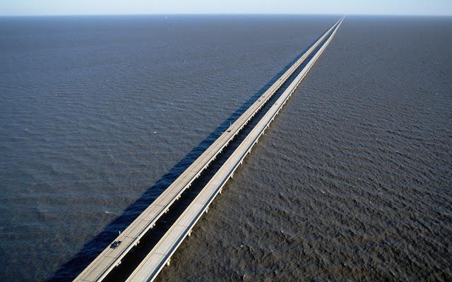 Lake Pontchartrain Causeway - jembatan terpanjang di dunia