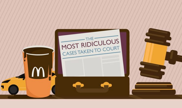 The most ridiculous cases taken to court
