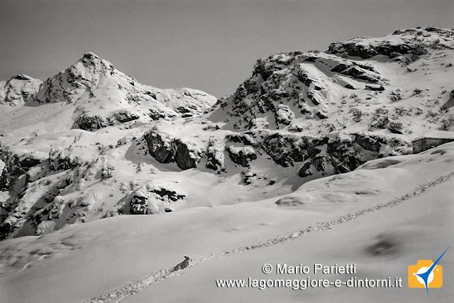 Salendo verso l'Alpe Scaredi