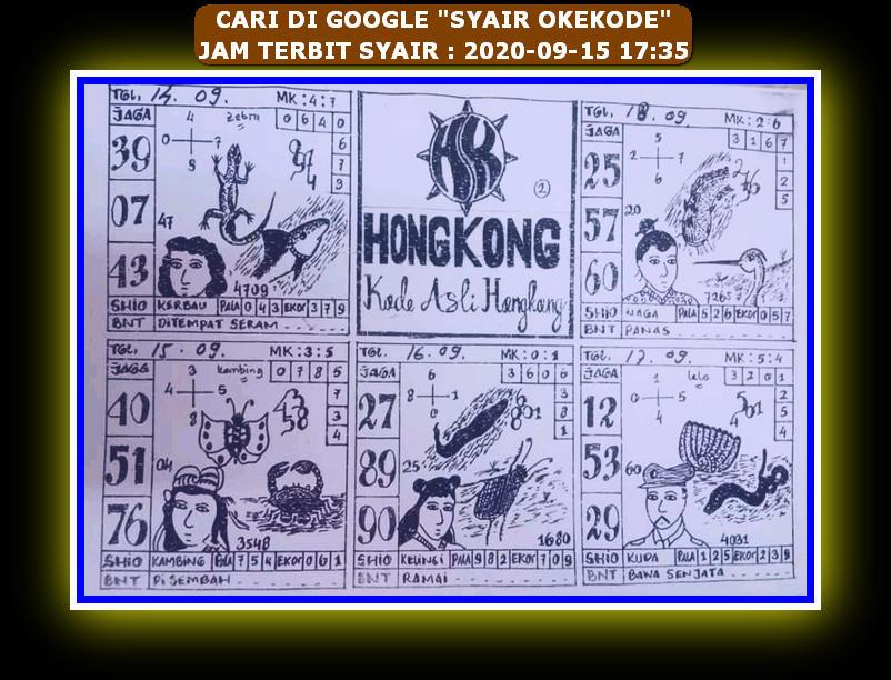 Kode syair Hongkong Rabu 16 September 2020 145