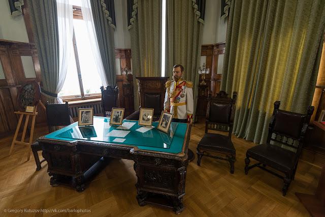 Ливадийский дворец. Интерьеры. Кабинет Николая II