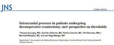 Intracranial pressure in patients undergoing decompressive craniectomy: new perspective on thresholds