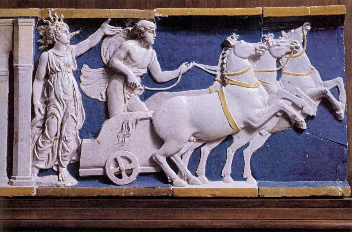 The Night and the Chariot of the Sun Sansovino, Andrea, Italian, 1490s Villa Medici, Poggio a Caiano