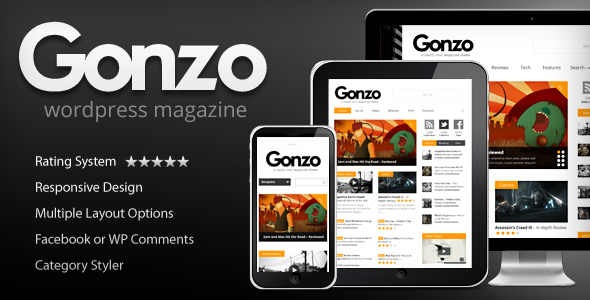 Gonzo v1.8.2 - Themeforest Clean, Responsive WP Magazine