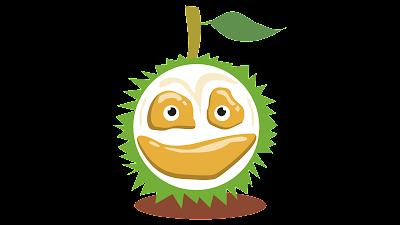 clipart gambar kartun buah durian