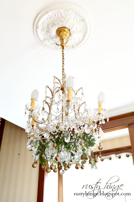 Antique Italian Chandelier Decorated with Vintage Bells