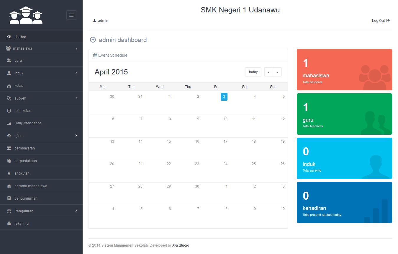 Jual Sistem Manajemen Sekolah Berbasis Website