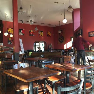 interior at Espresso Roma in Berkeley, California