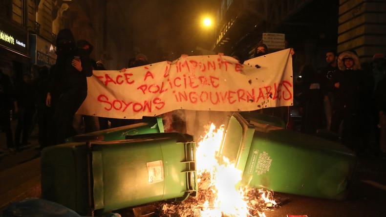 Heurts lors d'une manifestation à Paris (Photographie d'illustration)