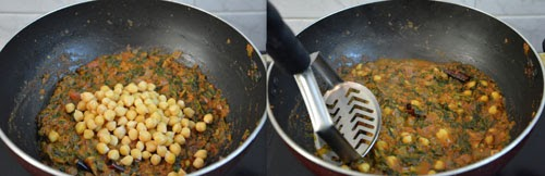 methi chickpea curry