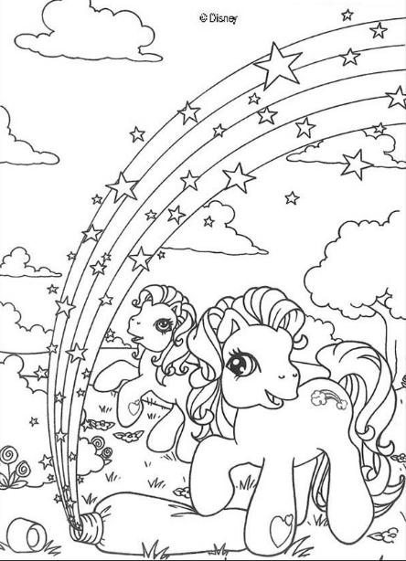 disegni da colorare little pony formato a4