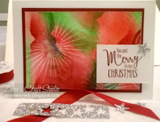 christmas card Zena Kennedy independent Stampin Up demonstrator