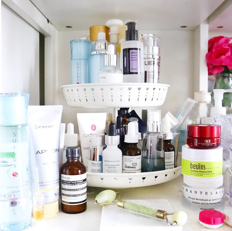 My Skincare Cubby and GARNERA cake stand from Ikea Singapore