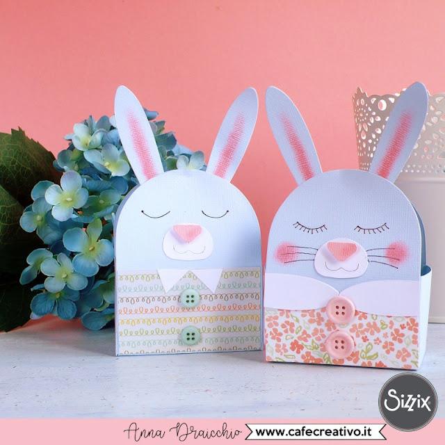 Scatoline bomboniere coniglietti