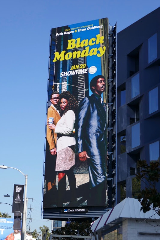 Black Monday series launch billboard