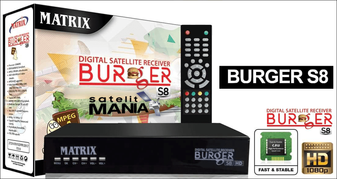 Inilah Spesifikasi Receiver Matrix Burger S8 New 2018
