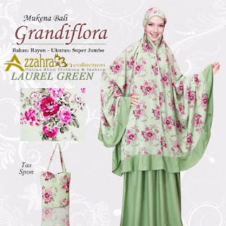 Gambar untuk Mukena Bali Super Jumbo Grandiflora warna Grenn