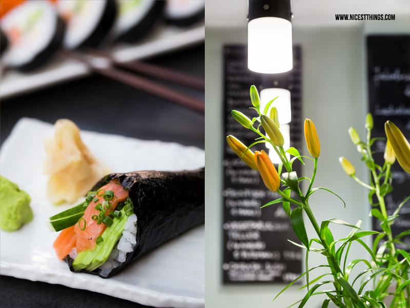 Temaki Sushi und Lilien Deko bei Same Same Heidelberg