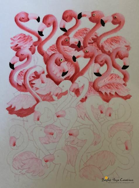 Flamingo Card by August Guest Designer Kara Pogreba   Flamingo Flock Stamp Set by Newton's Nook Designs #newtonsnook #handmade