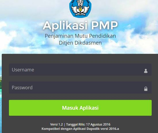gambar login aplikasi PMP