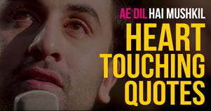 Ae Dil Hai Mushkil Lyrics Quotes