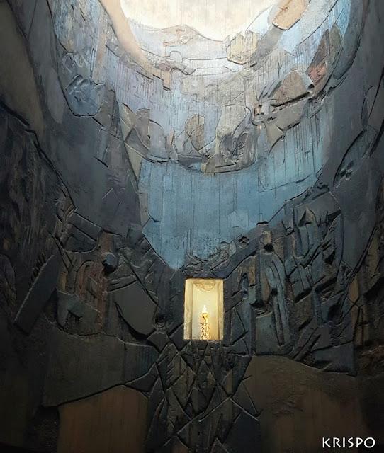 retablo de madera policromada del santuario de aranzazu