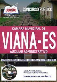 Apostila da Câmara de Viana 2018 Auxiliar Administrativo