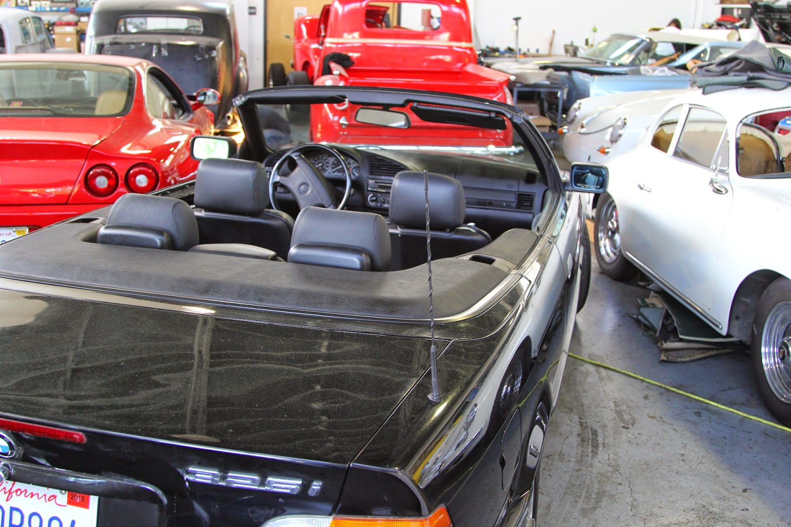 Here We Are Replacing The Convertible Top On Bmw 3 Series As Well Has Redoing Door Panels