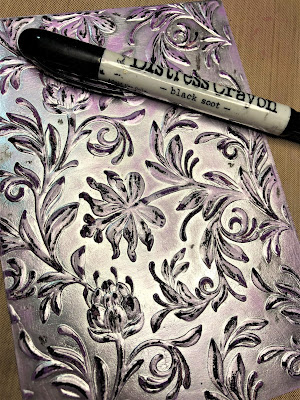 Sara Emily Barker http://sarascloset1.blogspot.com/ Halloween 3D embossing tutorial Tim Holtz Sizzix Alterations Ideaology 5