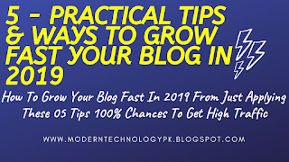 How To Grow Your Blog Traffic - 5 Tips