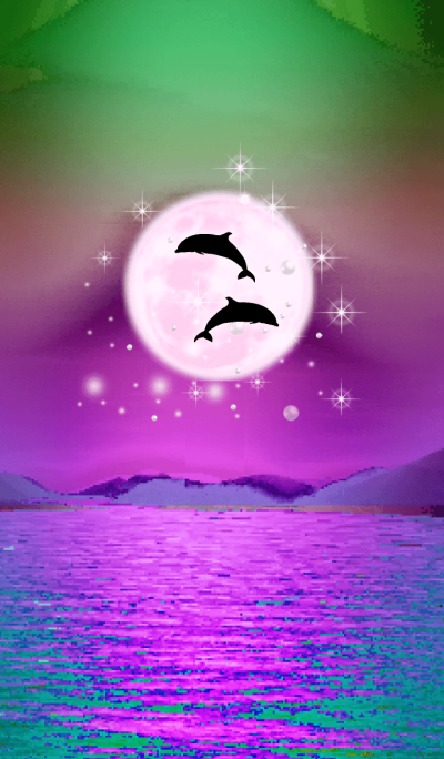 Lucky Strawberry Moon double dolphins 18